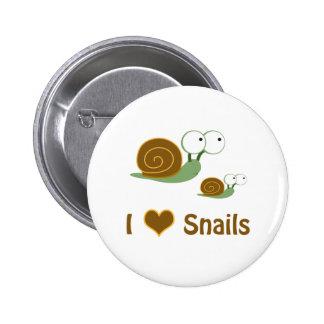 I Heart Snails- two cute snails Button