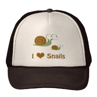 I Heart Snails- two cute snails Trucker Hat