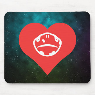 I Heart Snakes Icon Mouse Pad