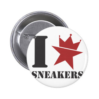 I <HEART> Sneakers Button