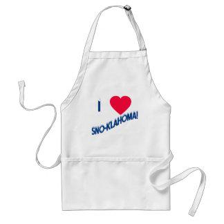 I Heart Sno-Klahoma! Oklahoma Humor Adult Apron