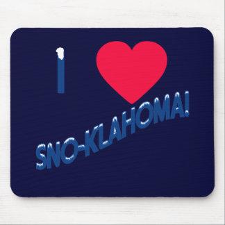I Heart Sno-Klahoma! Oklahoma Humor Mouse Pad