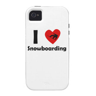 I Heart Snowboarding iPhone 4 Covers