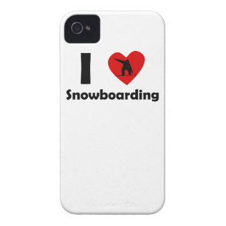 I Heart Snowboarding iPhone 4 Cases
