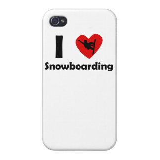 I Heart Snowboarding iPhone 4 Case