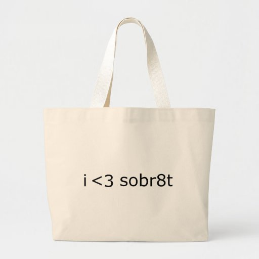 I heart Sobriety Tote Bag