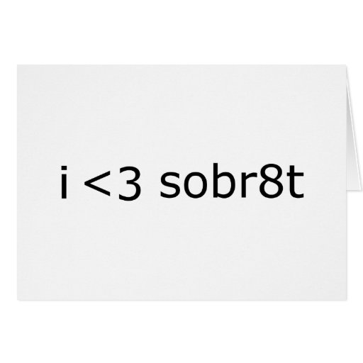 I heart Sobriety Card