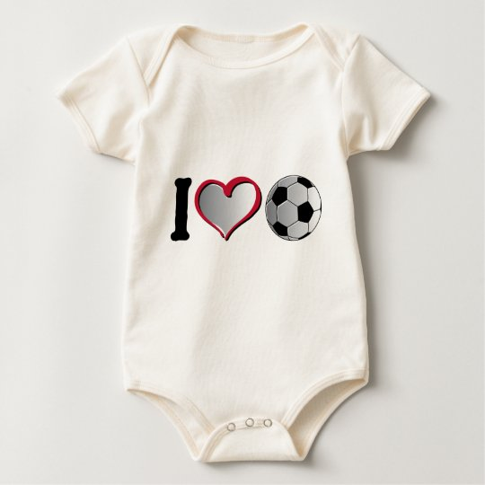 I Heart Soccer Baby Bodysuit