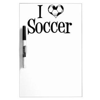 I Heart Soccer Dry Erase Whiteboards