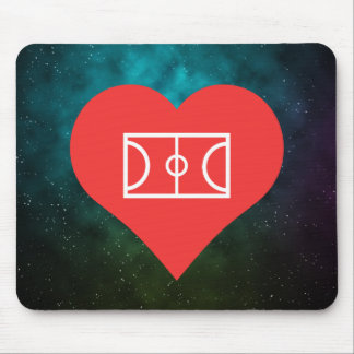 I Heart Soccer Fields Vector Mouse Pad