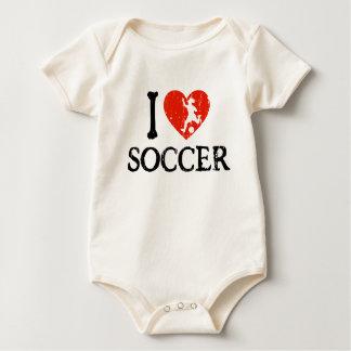 I Heart Soccer - Girl Baby Bodysuit