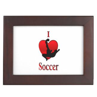 I Heart Soccer Memory Box