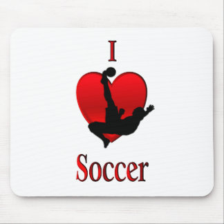 I Heart Soccer Mouse Pad