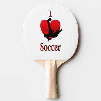 I Heart Soccer Ping-Pong Paddle