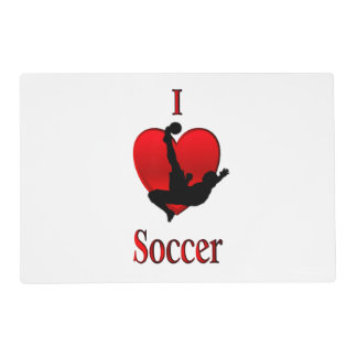 I Heart Soccer Placemat