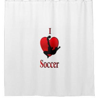 I Heart Soccer Shower Curtain