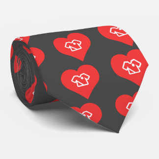I Heart Soccer Uniforms Icon Tie
