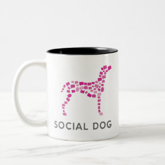 I Heart Social Dog mug