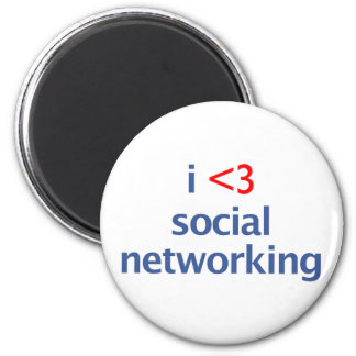I Heart Social Networking 2 Inch Round Magnet
