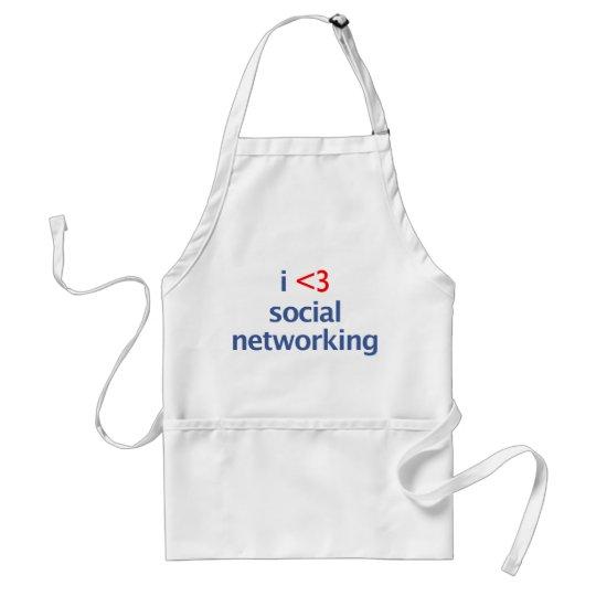 I Heart Social Networking Adult Apron