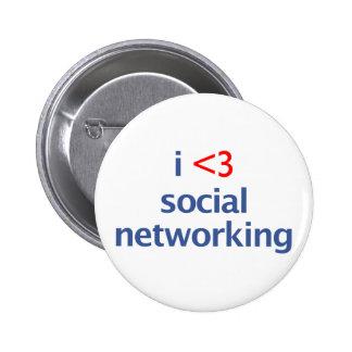 I Heart Social Networking Pin