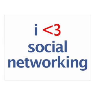 I Heart Social Networking Postcard