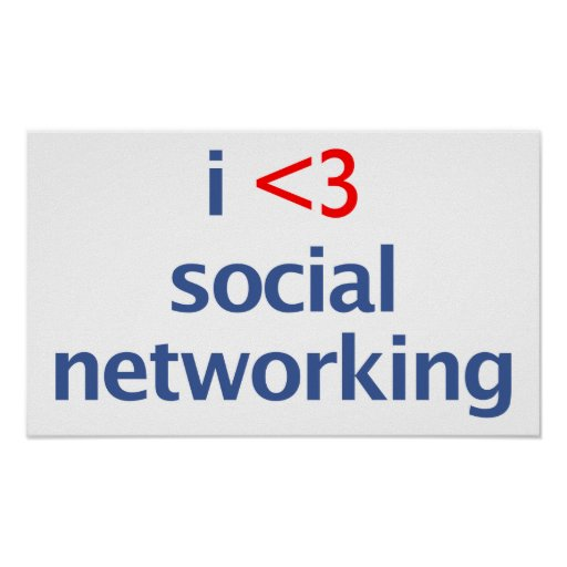 I Heart Social Networking Poster