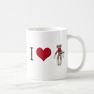 I Heart Sock Monkey Coffee Mug