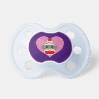 I Heart Sock Monkey Pacifier