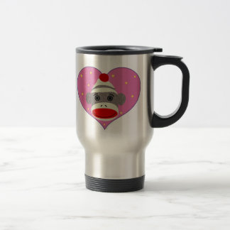 I Heart Sock Monkey Travel Mug