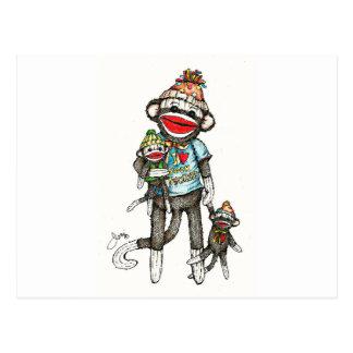 I Heart Sock Monkeys Post Cards