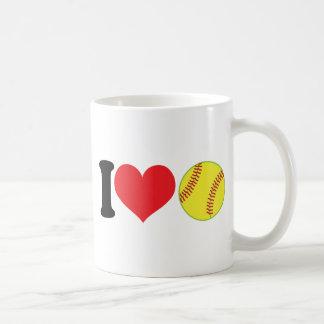 I Heart Softball Classic White Coffee Mug