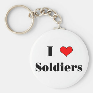 I (heart) Soldiers Keychain