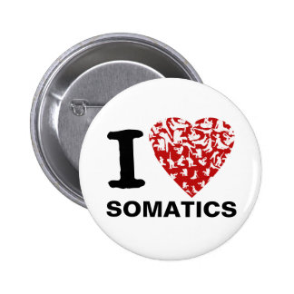 I Heart Somatics Button | Red Heart