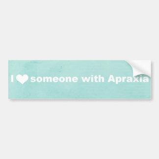 I Heart Someone With Apraxia - Bumper Sticker