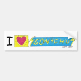 I Heart Sonichu Bumper Sticker