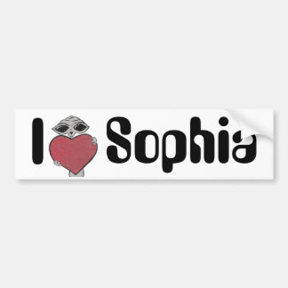 I Heart Sophia Alien Bumper Sticker