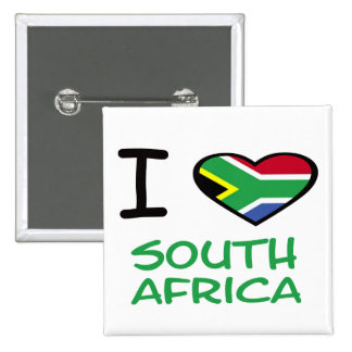 I heart South Africa Pinback Button