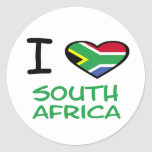 I heart South Africa Classic Round Sticker