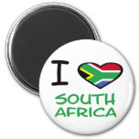 I heart South Africa Refrigerator Magnets