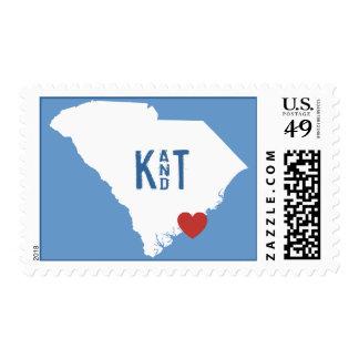 I Heart South Carolina - Customizable City Stamp