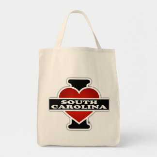 I Heart South Carolina Grocery Tote Bag