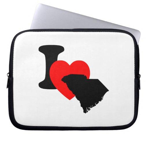 I Heart South Carolina Laptop Sleeves