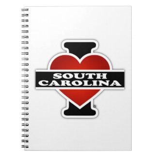 I Heart South Carolina Notebook