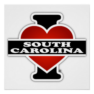 I Heart South Carolina Poster