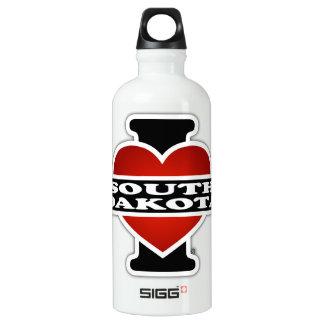 I Heart South Dakota Aluminum Water Bottle