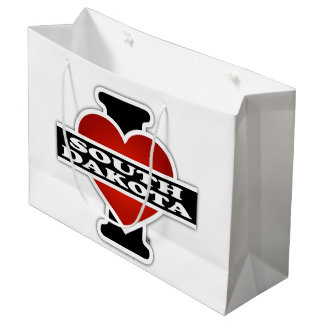 I Heart South Dakota Large Gift Bag