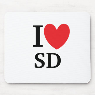 I Heart South Dakota Mousepad
