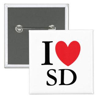 I Heart South Dakota Pinback Button