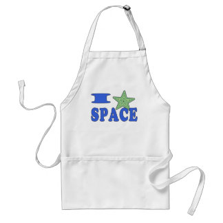 I Heart Space Adult Apron
